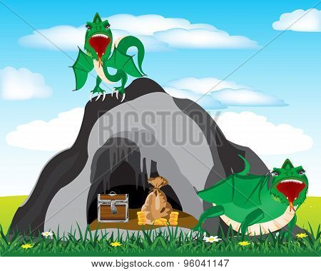 Cave and dragons