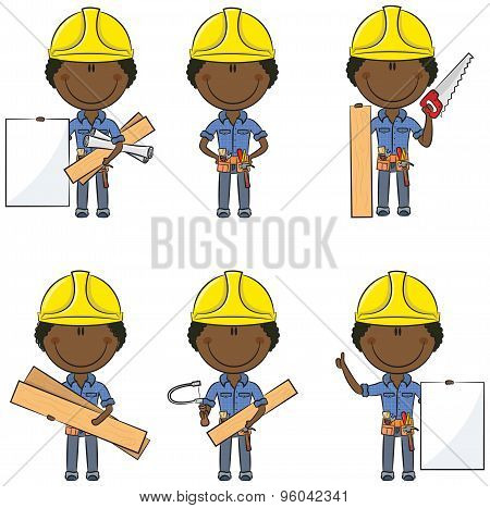 African-american Carpenter