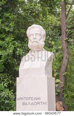 Aristotelis Valaoritis statue in Sintagma Athens.