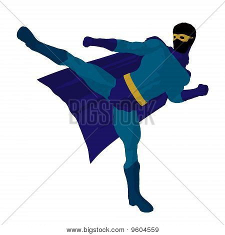 Super Hero Illustration Silhouette