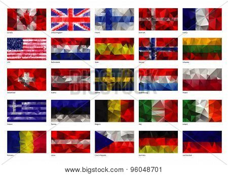 Set of flags of the world