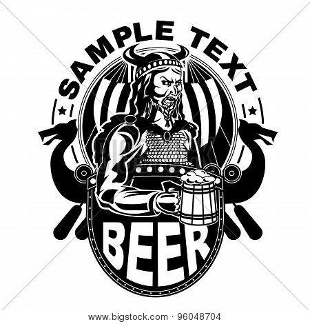 Viking with a mug of beer