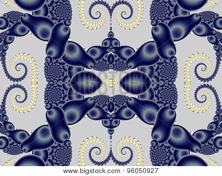 Beautiful Background With Spiral Pattern. Blue And Gray Palette. Artwork For Creative Design, Art An