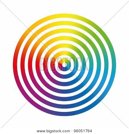 Rainbow Colors Circle Rings