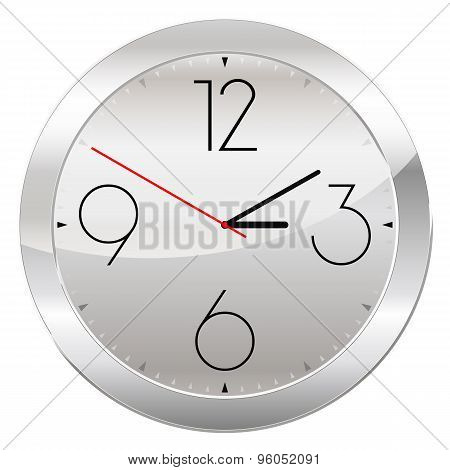 Analog Clock Isolated On A White Background