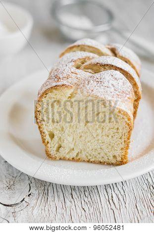 Sweet Butter Bread, Brioche, On A Light Wooden Background