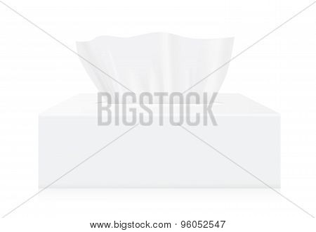 White Tissue box mock up