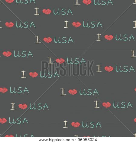 Patriotic lovely american pattern. I love USA.