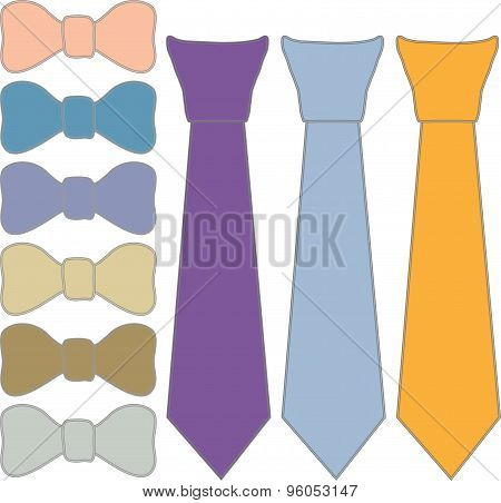 ties and tie Butterfly