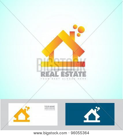 House 3D Real Estate Logo Icon