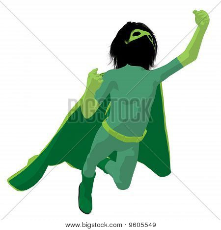 Super Hero Boyl Illustration Silhouette