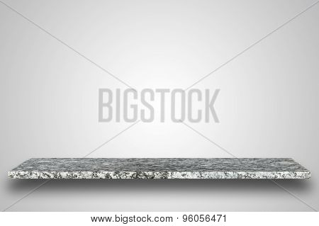 Empty Top Of Natural Stone Table Or Counter On Blank Background