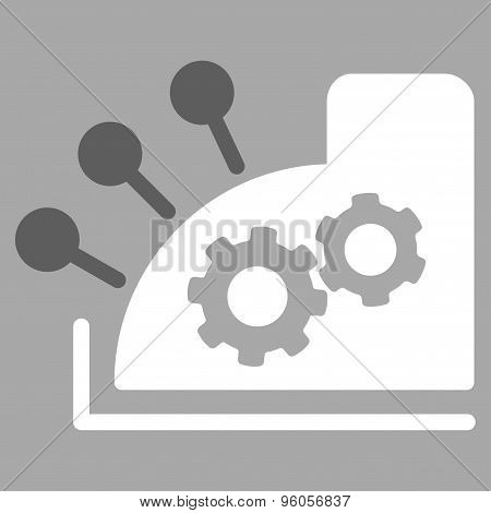 Cash register icon from Business Bicolor Set