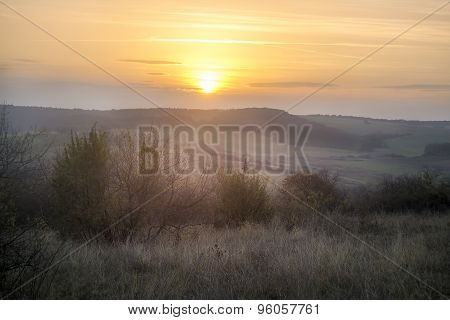 Sunset on the countryside