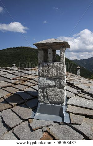 Vintage Old Stone Authentic Chimney