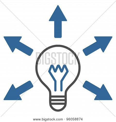 Idea icon from Business Bicolor Set