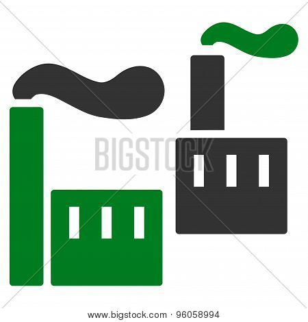 Industry icon from Business Bicolor Set