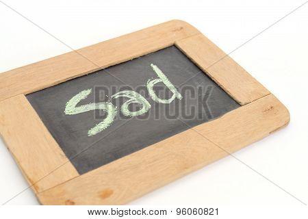 Letter Sad Write On Chalkboard