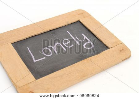 Letter Lonely Write On Chalkboard