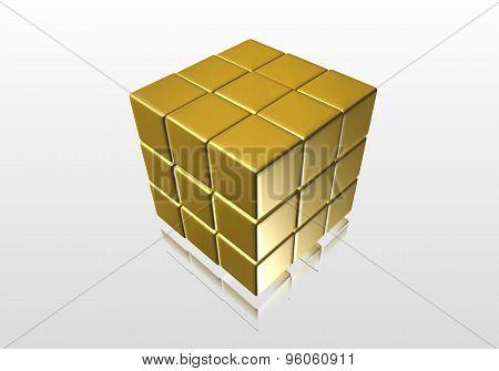 Light yellow cube