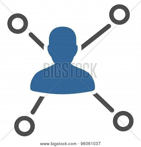 Relations icon from Business Bicolor Set