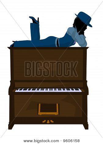 African American Jazz Musician Illustration
