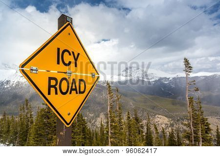 Icy Road Sign