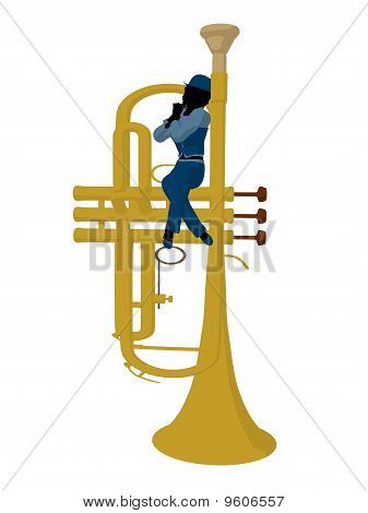 African American Jazz Musician Illustration