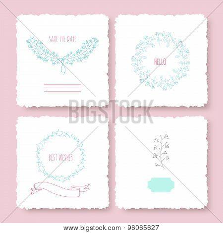 Invitation cards set