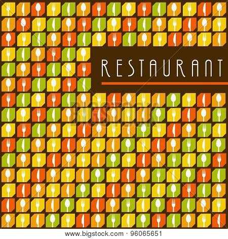Background Menu Restaurant Icon Set
