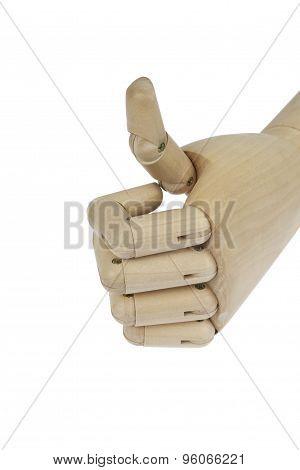 Wooden artificial human hand model