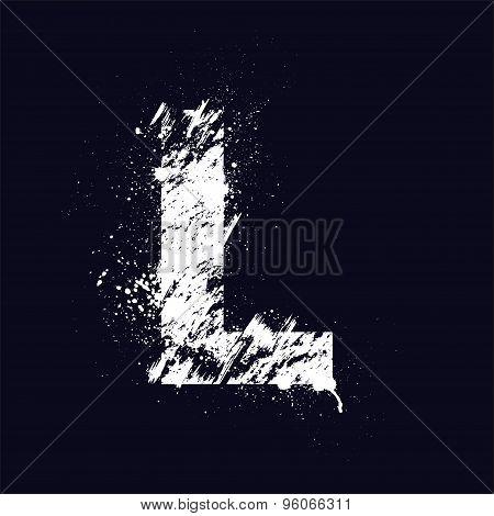 Grunge letter L