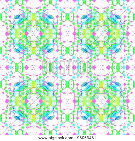 Seamless pattern green pink