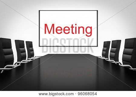 Conference Room With Whiteboard Meeting