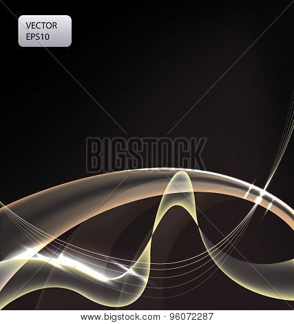 Fantastic Art Background With Light Lines