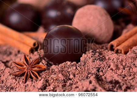 Chocolates And Truffles With Spices
