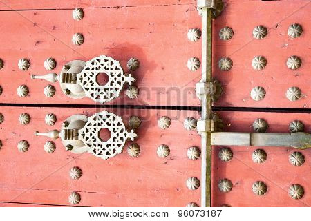 Rusty  Brown    Morocco In Red  Safe Padlock