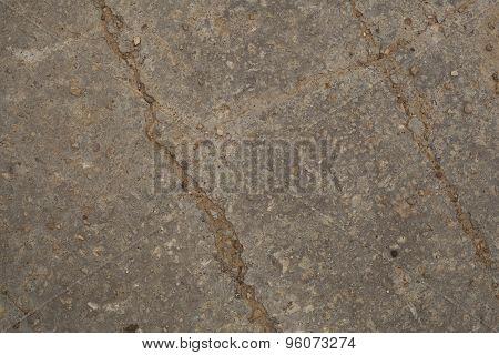 Concrete road texture closeup