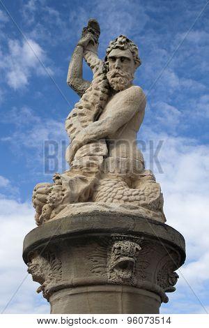 Statue Of Neptune, Lowestoft, Suffolk, England