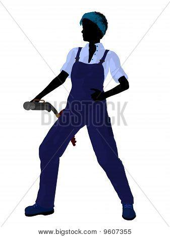 Female Mechanic Silhouette