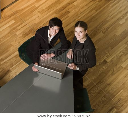 Women in front of a computer