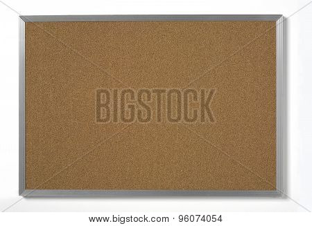 cork board with metal frame
