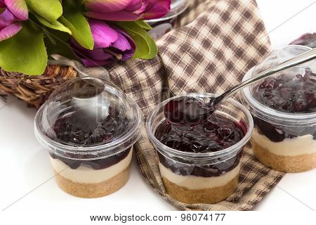 Blueberry Cheesecake In Plastic Package