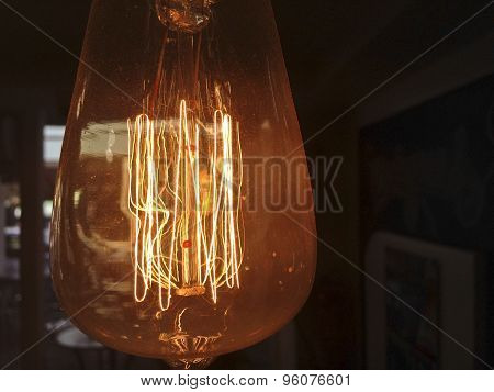 Old Style Dusty Light Bulb