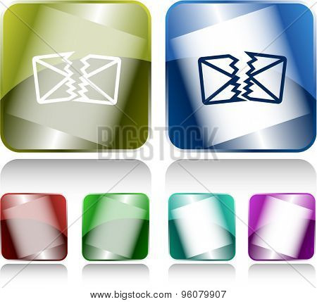 defective mail. Internet buttons. Vector illustration.
