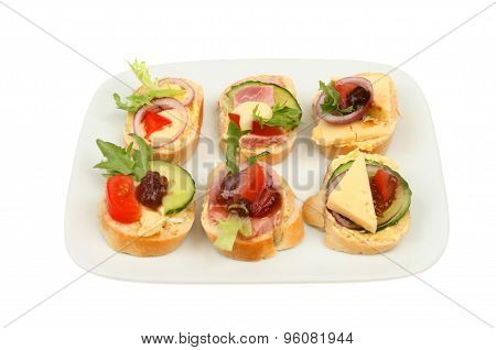 Canapes On A Plate