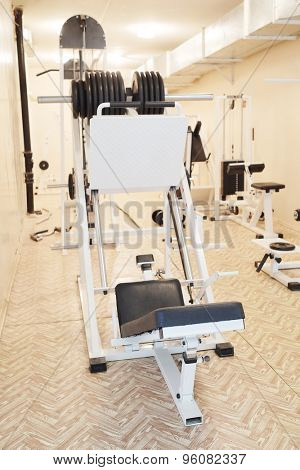 The image of a fitness hall