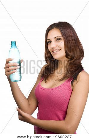 Woman With Bottle Of Water