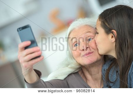 A kiss for grandma