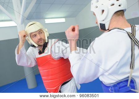 Wearing protection during martial art session